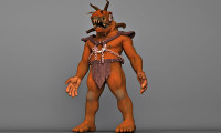 chained monster 3d model