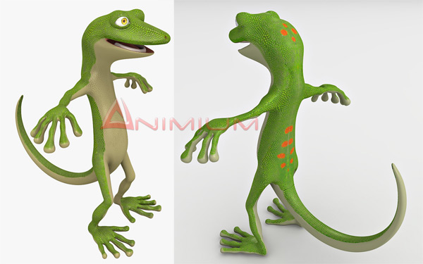 Cartoon Gecko 3d model