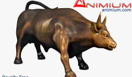 Charging bull statue 3d model