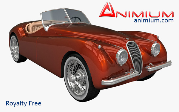 Jaguar XK120 3d model