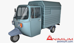 Auto rickshaw carrier 3d model
