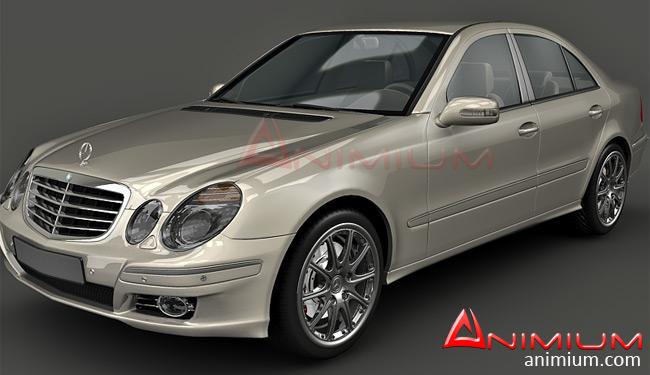 mercedes benz e class w211 3d model animium 3d models. Black Bedroom Furniture Sets. Home Design Ideas