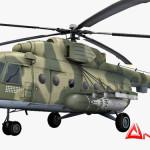 Mil Mi-8 helicopter 3d model