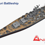 USS Missouri Battleship 3d model