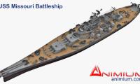USS Missouri Battleship 3d model