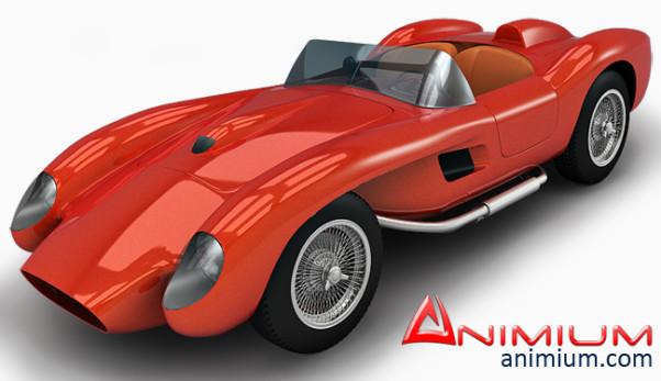 1957 Ferrari Testa Rossa 3d model