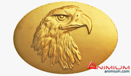 Eagle head medal 3d model