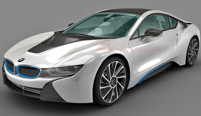 BMW i8 3d model – Animium 3D Models