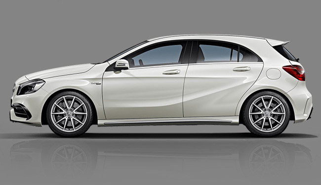 Mercedes benz a45 amg 3d model free 3d models for Mercedes benz car models list with pictures