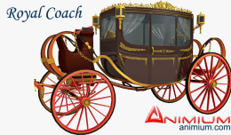 Royal coach 3d model