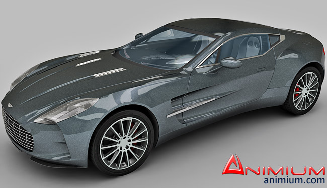 Superieur Aston Martin One 77 3d Model