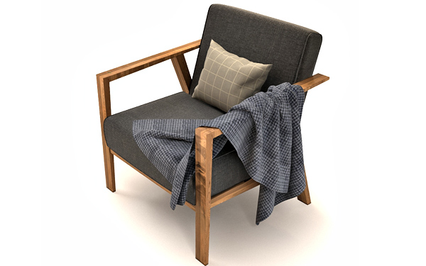 Ekenaset armchair 3d model