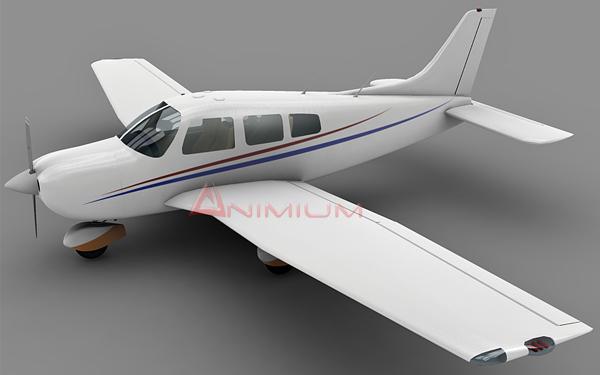 Piper PA28 3d model