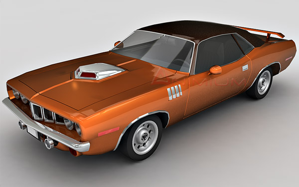 Plymouth Barracuda 3d model