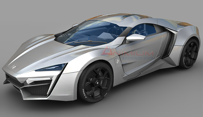 Lykan Hypersport 3d Model on 3d animated objects