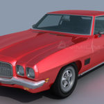Pontiac LeMans coupe 1971 3d model