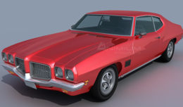 pontiac lemans 1971 3d model