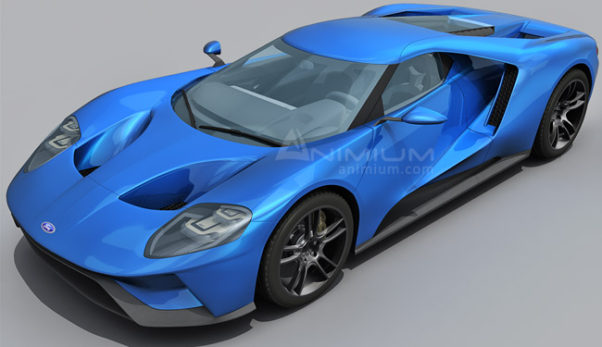 Ford GT 2017 3d model