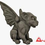 Gargoyle Statue 3d model