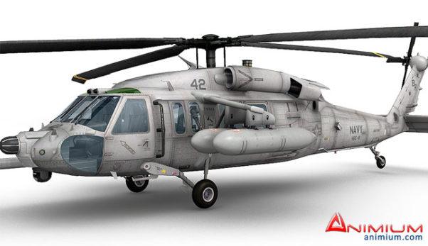 MH60 Blackhawk 3d model