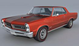 Pontiac Le mans GTO 1965 3d model