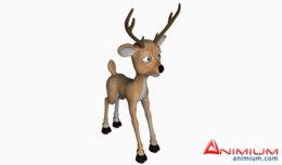 Toon Deer 3d model