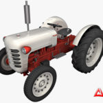 Tractor and Trailer 3d model