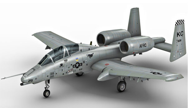 A 10 Thunderbolt 3d model