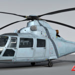 Eurocopter AS365 Dauphin 3d model