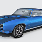 1969 Pontiac GTO Judge 3d model