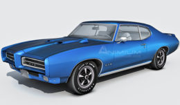 Pontiac GTO judge 3d model