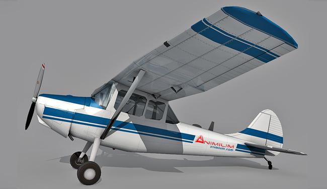 Cessna L-19 O-1 Bird Dog 3d model
