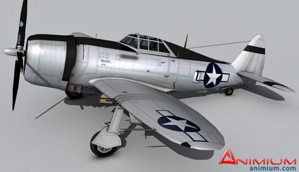 P-47D Thunderbolt 3d model