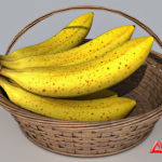 Banana Basket 3d model