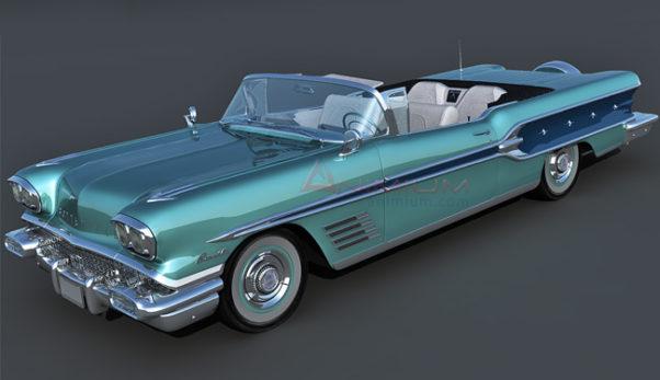 Pontiac Bonneville 1958 3d model
